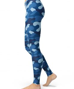 camouflage blue leggings