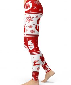 Santa Claus Snowman leggings