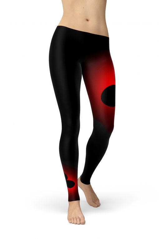 Dark Background With Club Card Leggings