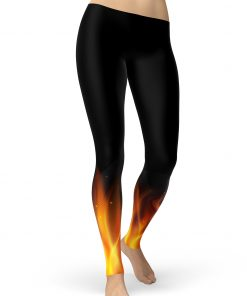 Fire Print Leggings