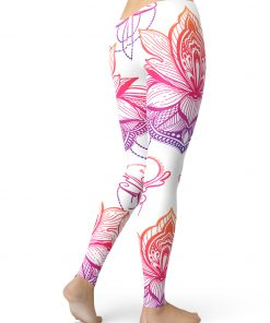 Lotus Pattern Leggings